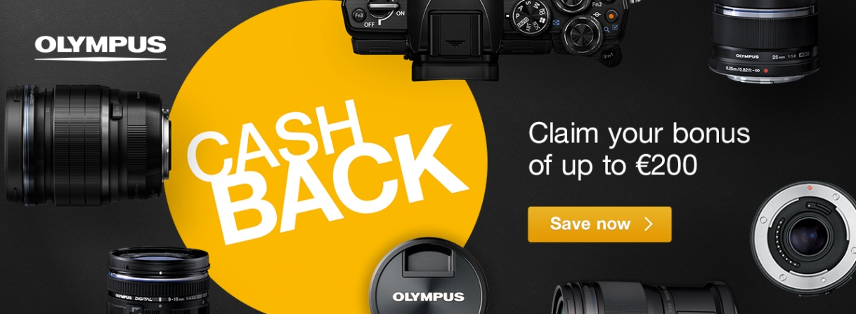 Claim your Bonus with OLYMPUS Summer Cashback